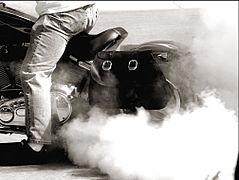 2007 Sturgis Motorcycle Rally, Burnout.jpg