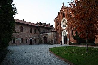 Viboldone Abbey - Entrance to the abbey.