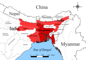 2010 Eastern Indian storm - Map of affected areas