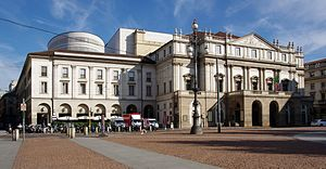 English: The La Scala Theatre, Milan Polski: T...