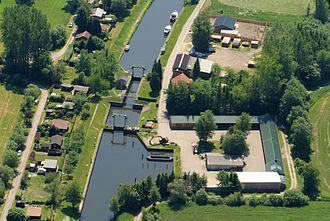 Lintig - Elbe–Weser waterway lock in Lintig