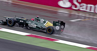 2012 British Grand Prix - The wet conditions in Friday's practice sessions saw limited running.