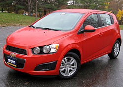 2012 Chevrolet Sonic 2LT hatchback (US)