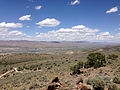 "2014-06-13 12 44 21 View north from a bluff northwest of the summit of ""E"" Mountain in the Elko Hills of Nevada.JPG"