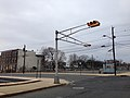 2014-12-20 15 06 46 A horizontally-mounted traffic light at the intersection of Bank Street and Willow Street in Trenton, New Jersey.JPG