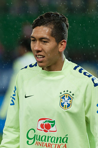 Roberto Firmino - Firmino training with Brazil in 2014