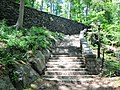 2014 Fort Tryon Park staircase to Alpine Garden from south.jpg