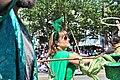 2015 Fremont Solstice parade - green hat donation squad 03 (19310809385).jpg
