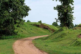 Sri Ksetra Kingdom - Sri Ksetra, Bago, Myanmar. Yahanda gate seen from outside the city