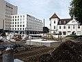 2017-10-07, Umbau des Verkehrsknotens am Siegesdenkmal in Freiburg, neues Fundament für das Siegesdenkmal.jpg