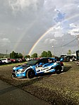 2018 Subaru STI rally car under a double rainbow.jpg