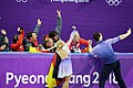 2018 Winter Olympics - Aliona Savchenko & Bruno Massot - Flower Ceremony - 2.jpg