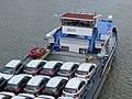 2019-05-19 (349) Suzuki SX4 (2nd generation) on the ship Kelheim at Kraftwerk Melk, Austria.jpg