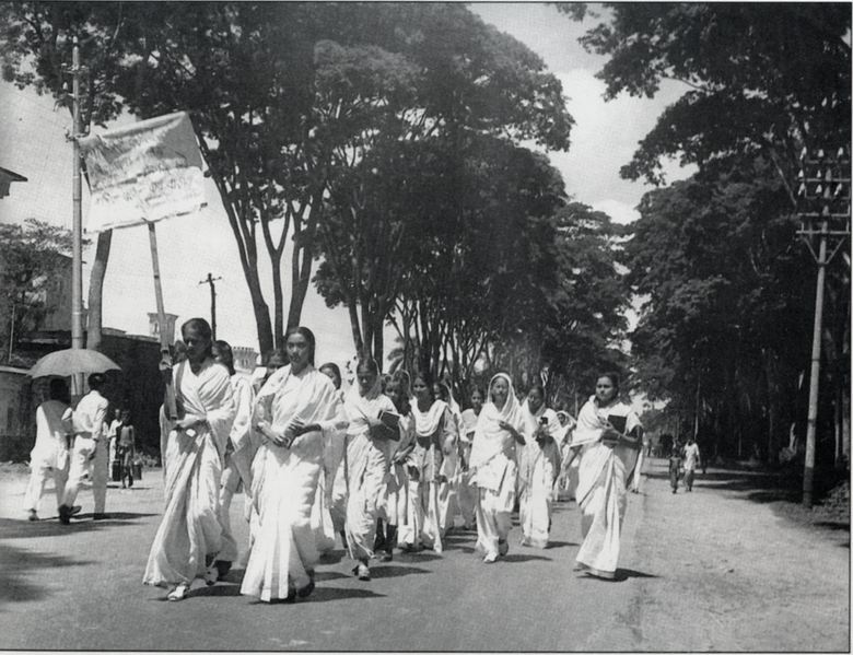 Ficheiro:21 Feb 1953 Dhaka University female students procession.png