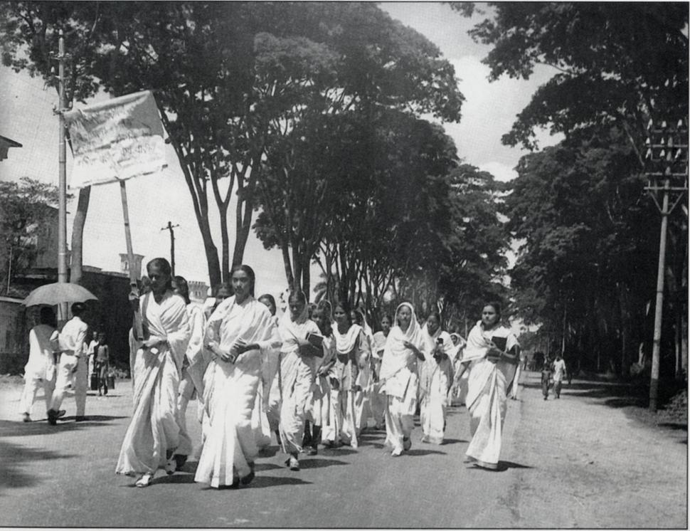 21 Feb 1953 Dhaka University female students procession