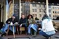24grad - Kaffeerösterei, Engelbosteler Damm 52 in 30167 Hannover-Nordstadt, (v.l.) Toni Anneken (NDR), Christian Decker (Produzent, Ex-Fury in the Slaughterhouse), Denise M'Baye (Schauspielerin).jpg