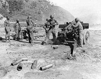 Battle of Sangju (1950) - Image: 24th Inf Howitzer