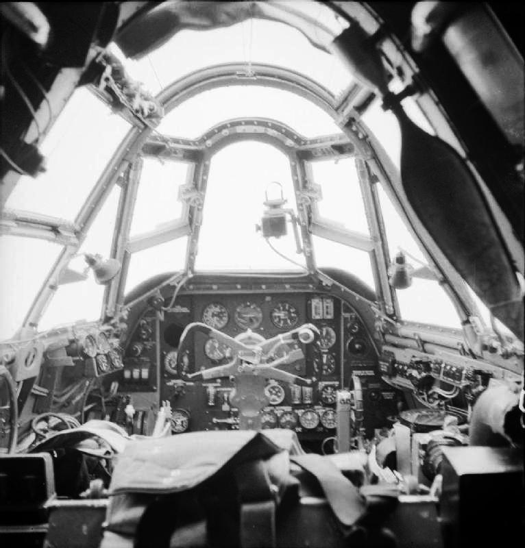 252 Squadron RAF Beaufighter cockpit at Chivenor IWM CH 17305