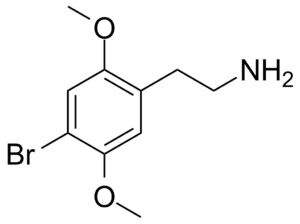 2C (psychedelics) - Image: 2C B Chemdraw