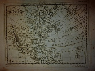 Encyclopædia Britannica Second Edition - Map of North America in Geography article