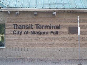 Niagara Falls station (Ontario) - Niagara Falls Transit Terminal