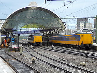 Zwolle - Zwolle railway station with ICMm train