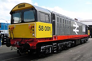 British Rail Class 58 - 58001 at Doncaster Works