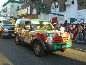 WQBU-FM - A WQBU-FM car in the 2010 North Hudson Cuban Day Parade in Union City, New Jersey.