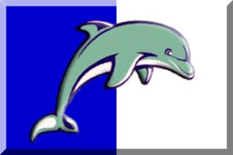 Greek Water Polo Cup - Image: 600px Blu e Bianco dolphin
