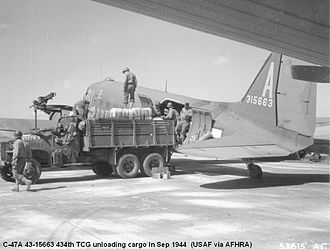 434th Operations Group - Douglas C-47A-90-DL, Serial 43-15663 of the 72d Troop Carrier Squadron.