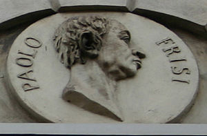 Paolo Frisi - A 19th century medallion of Paolo Frisi on the facade of Palazzo Beccaria in via Brera street, Milan (birthplace of Cesare Beccaria).
