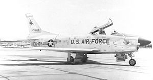 94th Fighter-Interceptor Squadron North American F-86D-50-NA Sabre 52-10094.jpg