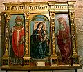 9721 - Milano - S. Ambrogio - Tesoro - Bernardino Zenale, Madonna, S. Ambrogio e S. Girolamo - Foto Giovanni Dall'Orto 25-Apr-2007.jpg