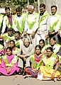 A.P.J. Abdul Kalam with the Fellows of the Jamsetji Tata National Virtual Academy for Rural Prosperity while inaugurates the National Virtual Congress of Farmers at the 93rd Indian Science Congress in Hyderabad on January 5,2006.jpg