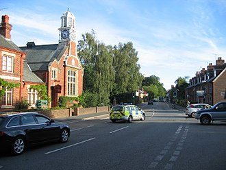 Hurst Green, East Sussex - Image: A21 High Street Hurst Green