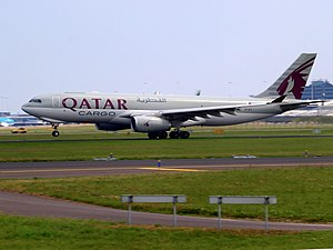 Qatar Airways - Qatar Airways Cargo Airbus A330-200F landing at Amsterdam Schiphol Airport