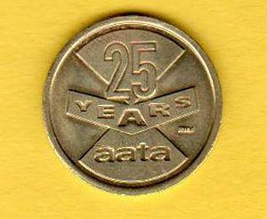 Ann Arbor Area Transportation Authority - AAATA 25th anniversary token