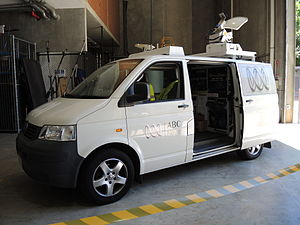 ABW (TV station) - Satellite link truck, used for outside broadcasts or live crosses