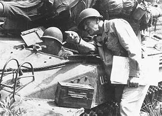 Andrew Davis Bruce - Major General Andrew Davis Bruce (standing), pictured sometime in 1944.