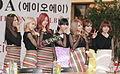 AOA (South Korean girl group) at Gimpo Airport, Seoul, in October 2013.jpg