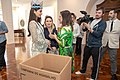 A Presidente Lucia França recebe a Miss Mundo, Manushi Chhilar (27601697148).jpg