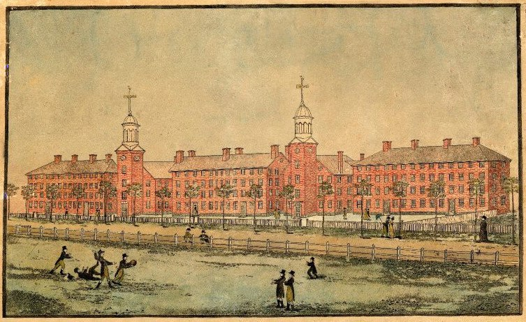 A View of the Buildings of Yale College at New Haven 1807