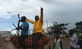 A candidate in a local council election wades through his local town Bukedea in Eastern Uganda atop a camel as his followers cheer on. This was in last year's general elections in the country. PHOTO DAVID ODUUT.jpg