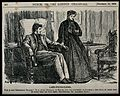 A female doctor takes the pulse of a male patient Wellcome V0047593.jpg