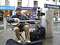 A quick burst on the banjo, Omagh - geograph.org.uk - 1043499.jpg