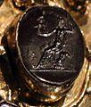 Aachen, busto-reliquiario di carlo magno, con corona di fattura forse praghese, post 1349, 09 marte col palladio.jpg