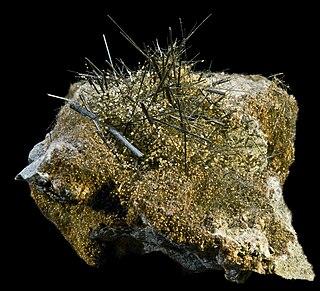 Actinolite amphibole, double chain inosilicate mineral