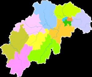 Shaoyang - Image: Administrative Division Shaoyang