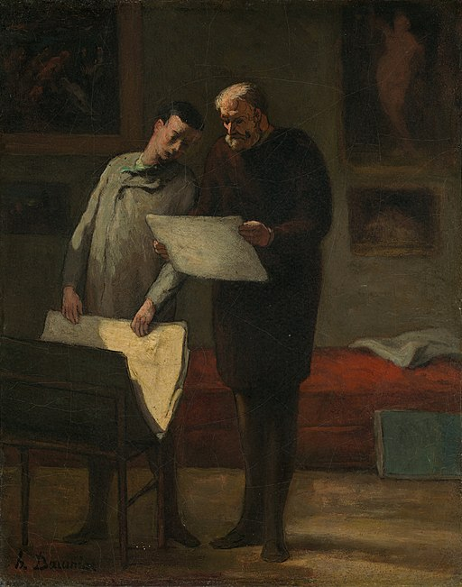 Advice to a Young Artist by Honoré Daumier c1865-68