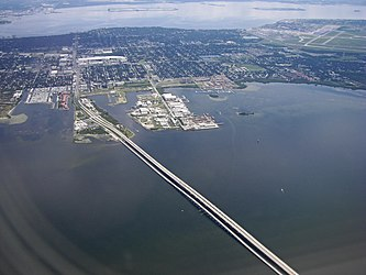 Aerial view of South Tampa, MacDill AFB and Gandy bridge 3.jpg